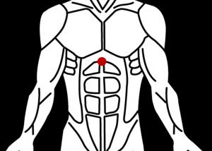 ツボの位置_鳩尾(機能性胃腸症)